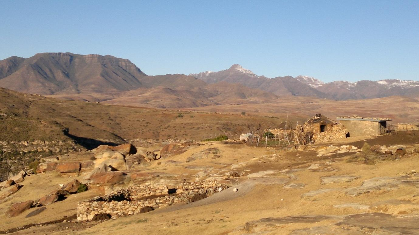Malalea Village in one of the mountains in Lesotho